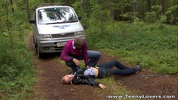 Teeny lovers going camping and fucking gianna