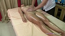 Fingering Thai pussy during oil massage