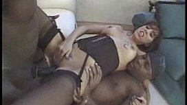 Women rubbing and eatting out girls