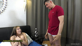 Stepfather Freaks Out Sees Stepdaughter Stacy Cruz Tag-Teamed!