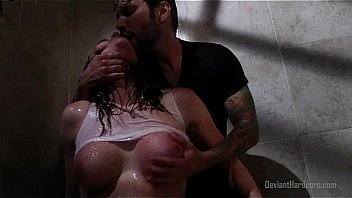 Chanel Preston rough shower sex