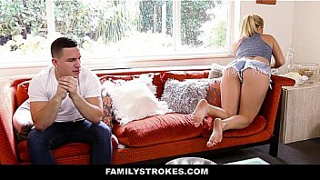 Family Strokes- Creepy Brother Stalks and Fucks Step-Sister