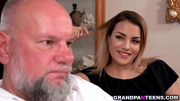 Teen slut Bianca Booty enjoys fucking with an old man