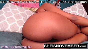 Best Petite Cute Black Cosplay Web Cam Model Msnovember Spreading Her Coochie Vagina And Thick Thighs Apart Pulling Her Black Thong Out Of Her Ass While Shaking Her Huge Hips HD Sheisnovember