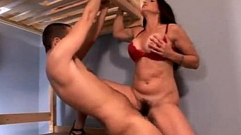 Hairy brunette fucked by big cock