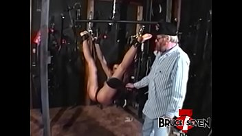 Lesbian nympho dominated by older guy