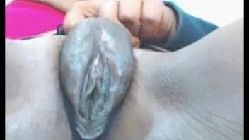 Ebony Girl Rubs Her Fat Pussy And Squirts - More At 69porncams.com