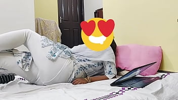 Best ever Indian husband hardcore doggystyle sex with curvy  maid in wife's absence.