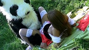 Teen Red Riding Hood gets drilled by a mascot