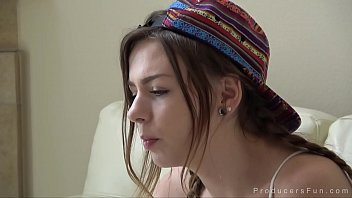 Beautiful young Alex Blake bangs Mr. Producer while smoking