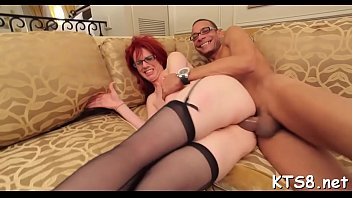 Transsexual enjoys blowing and ass ride