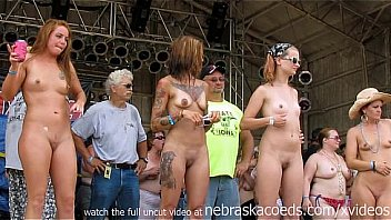 at rally Nude contest biker