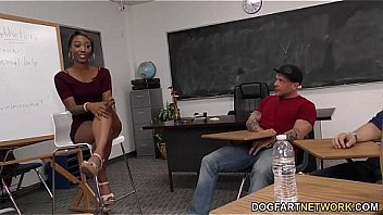 Chanell Heart enjoys group sex with white guys