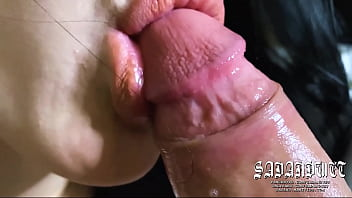 SUPER CLOSE UP BLOWJOB, EXTREMELY GOOD BLOWJOB, MESSY & SLOPPY SUCKING & LICKING BEST BLOWJOB EVER MADE EVER SEEN, SUPER SUCKING SKILLS