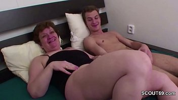 Grandma Teach Young Boy to Fuck and Put Dick in Asshole