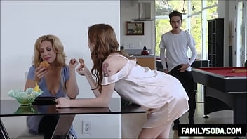 Brother fucks own sister while Mother is watching
