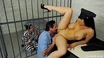 Her Husband is in Jail so She Fucks the Guard