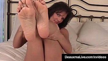 Huge Titted MILF Deauxma Plays With Herself and Feet!