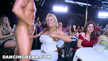 DANCING BEAR - Room Full Of Diverse Women Sucking Big Cocks Left And Right