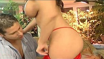 Cute brunette with big boobs gets fucked hard!