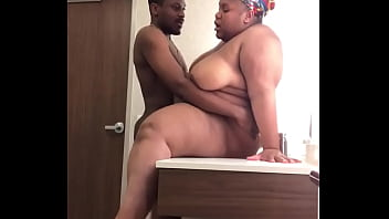BBW TAKES DICK ON SINK