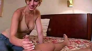 Polish redhead girl gives handjob