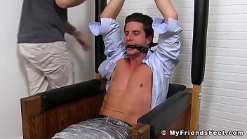 Tickle tormenting with classy jock Sergey