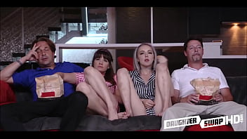 Cute Teen Petite Daughters Swap Fuck Each Others Dads