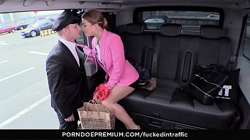 VIP SEX VAULT - Reverse cowgirl dick riding in the taxi car