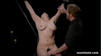 Hardcore BDSM Orgasms For Submissive Blonde Suspended And Toyed By Maledom Master