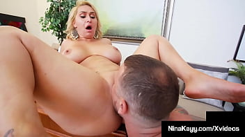 Crazy Jealous Ho Nina Kayy takes her man's raging hard cock in her thick tasty twat while at the office in this perfect plump pussy pounding clip!! Full Video & More Nina @