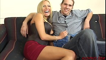 Sexy housewife Cassie Young sucks and fucks as her cuckold husband watches