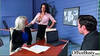 (Ava Addams & Riley Jenner) Big Tits Sluty Girl In Hardcore Sex In Office clip-05