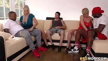 Interracial MILF Foursome