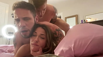 Steve Rickz and Wolf Hudson Bi 3some Featuring Sexy Petite Sommer Brooke
