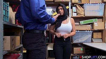 Muslim girl with Mall cop