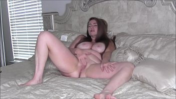 Sexy Hot MILF Naked On Bed Rubbing Pussy