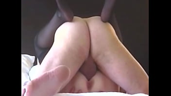 Chubby Mature amateur lies back with legs up and takes a big cock deep