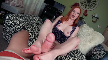 Stepmother gave me a Footjob and my penis pop -Lady Olivia Fyre