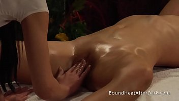 Young Lesbian Slave Gives Perfect Massage To Her Dominant Mistress