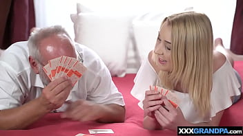 Nasty game turns into rough taboo fuck with an old man
