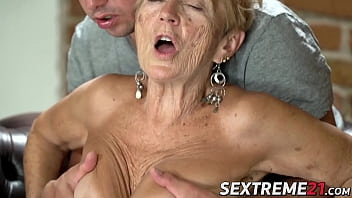 Irresistible grandma licked and dicked