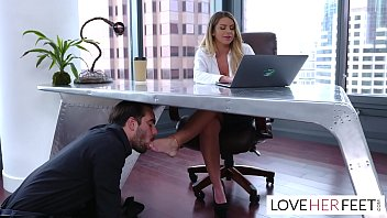 Brooklyn Chase feet sex with the boss