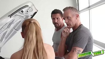 Sloan Harper and Skylar Snow blows their dads huge matured cocks!