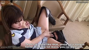 Masochist slave who is ejaculated and managed by two women