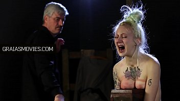Blonde slave holding out for her Master