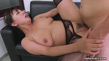 Slutty secretary with big, natural tits and soaking wet pussy, Ryouko Murakami sucked many dicks the other day, while she was still at work, and got fucked from the back, harder than ever