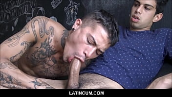 Young Straight Amateur Latino Boy Aquiles Gay Sex With Tattooed Stud For Money POV
