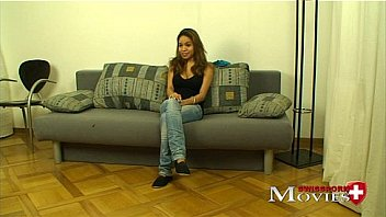 Porn Interview with Teen Melanie 20y in Zürich, a hot young girl in switzerland give dirty talk for you in the casting