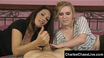 Big tit MILF Charlee Chase has an extra pair of hands helping her out to get a hard cock off shooting its load on them both. Meet and cam LIVE with Charlee at CharleeChaseLive.com